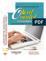 Object Oriented Programming for R-2017  by K. Sriram kumar, P.Krishna Sankar