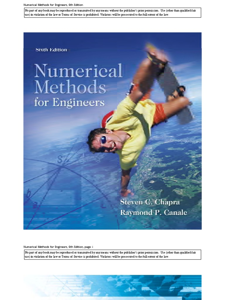 9780071267595: numerical methods for engineers (int'l ed.