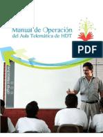 Manual de operación del Aula telemática HDT