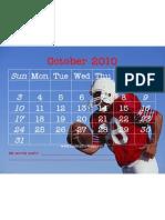Activity October 2010 Touchdown