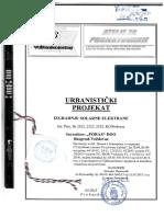 Urbanisticki Projekat Za Izgradnju Solarne Elektrane Kp 2522-2523 i 2525 KO Prebreza