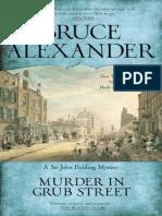 Alexander, Bruce - [Sir John Fielding 2] - Murder in Grub Street (2010, Berkley)