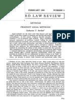 29 Feminist Legal Methods (Bartlett)
