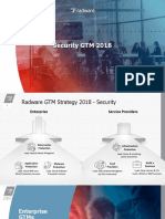 Radware Security GTM Strategy 2018
