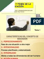 Tema 1.2.- Concepto y Fines de La Educación