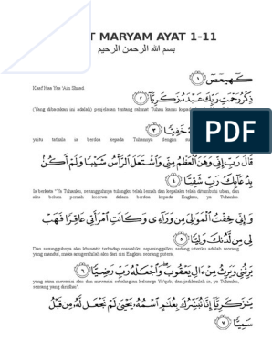 Surat Maryam Ayat 1