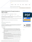 Method Statement for Pouring Concrete on Slab on Grade _ Quality Assurance and Quality Control in Construction