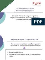 3 Facultad de Humanidades- Falsas Memorias