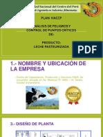 PLAN HACCP de Leche Pasteurizada