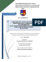 L'INFLUENCE DE L'EFFICACITE DE MESSAGE PUBLICITAIRE SUR LE COMPORTEMENT DE CONSOMMATEUR  CAS DES AFFICHES PUBLICITAIRES DE TELEPHONIE MOBILE DANS LA VILLE DE GBADOLITE EN RDC DE 2014 A 2016