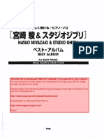 Hayao Miyazaki and Studio Ghibli - Best Album For Easy Piano - Joe Hisaishi Sheet Music.pdf