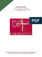 UF 2008 - Pjesmarica (Komplet)