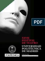 Folleto XXVII Festival de Teatro UPM