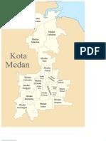 Peta Lokasi Kecamatan Kota Medan