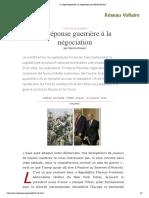 la réponse guerrière à la négociation - Manlio Dinucci
