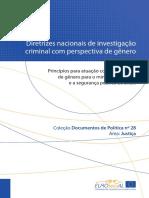 Diretrizes Nacionais de Investigação Criminal Com Perspectiva de Gênero