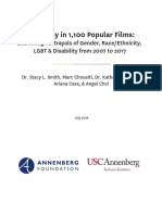 Inequality in 1100 Popular Films