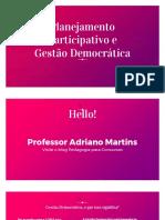 Planejamento Participativo e Gestão Democrática - pedagogia para concursos