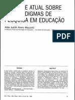 paradigmas da pesquisa em educação.pdf