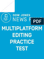 2018 Multiplatform Editing Test Answer Key