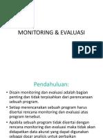 Monitoring Evaluasi Kesehatan