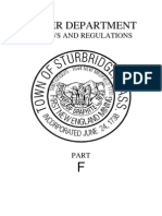 Sturbridge Water Department Bylaws 2009