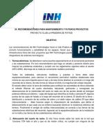 24. Recomendaciones Para Mantenimiento y Futuros Proyectos