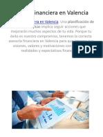 Asesoría Financiera en Valencia