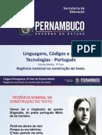 Regência Nominal Na Construção Do Texto.