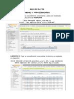 Procedimientos en Mysql Base de Datos