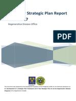 Five-Year Strategic Plan Report 2013-2017 Degenerative Disease Office