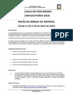 Convocatoria Beca Rebaja de Arancel 2018
