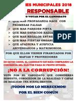 ELECCIONES MUNICIPALES 2018