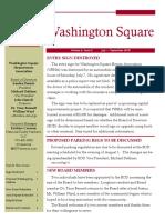 Washington Square News Letter