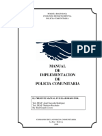 Manual de Implentacion de Policia Comunitaria