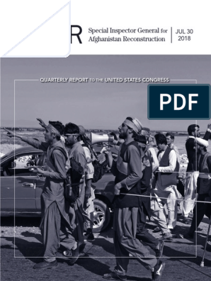 SIGAR Quarterly Report To The United States Congress - July