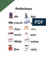 Palabras Sinonimas y Antonimas Con Imagenes