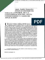 Instrumentos Económicos Para El Control de La Contaminación Del Agua - Artículo