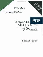 Solucionario Mecánica de Sólidos – Egor P. Popov