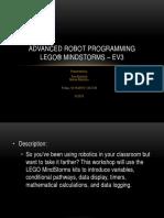Advanced Ev3 Robot Programming