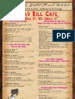 Road Kill Cafe Menu