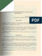 La Experiencia de La Escuela Nueva en Mendoza