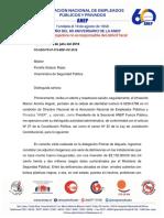 Carta Viceministra  por delegación en mal estado