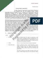 Framework Agreement — Superceced