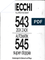 Necchi 543 / 545 Bedienungsanleitung