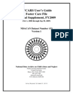 AFCARS User's Guide  Foster Care File  Annual Supplement, FY 2009