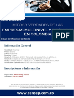 Conferencia Mitos y Verdades Empresas Multinivel