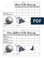 cones spheres   cubes drawing exercise rubric