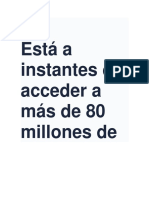 Está a Instantes de Acceder a Más de 80 Millones de Documentos Gratis