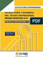 Boletín No. 3. Estructura y Dinámica Del Tejido Empresarial_ Primer Semestre 2016
